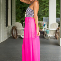 Party At The Pier Dress, Hot Pink