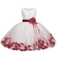 Baby Kids Girls Dress Children Girls Party Dress Kids Wedding Dresses For Girls Frock Birthday Outfits