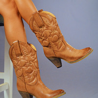 RESTOCK Country Girl Boots: Light Brown   Hope's