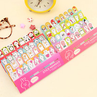 Cute planner stickers Post it stick marker Memo pad/diary stickers Stationery Office accessories School supplies papeleria