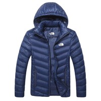 The North Face Winter New Lightweight Jacket Down Jacket Blue