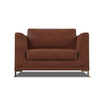 Dylan Leather King Chair :: Leg Finish: Brass