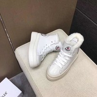 MONCLER    Women Casual Shoes Boots popularable casual leather Women Heels Sandal Shoes