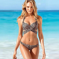 Victoria's Secret Like Triangle Steel Pallets Underwire Two-Piece Erotic Sexy Bikini Swim Suit Beach Bathing Suite _ 701