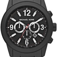 Michael Kors Chronograph Black Ion-plated Mens Watch MK8196