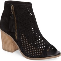 Sole Society Dallas Peforated Peep Toe Bootie (Women)   Nordstrom
