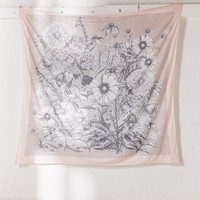 Marina Floral Scarf Tapestry | Urban Outfitters