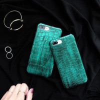 Retro Vintage Cocktail Pattern Green Iphone 7 7 Plus Cover Case