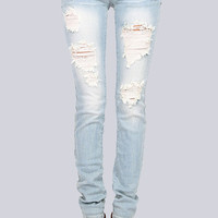 Tuesday's Light Washed Distressed Jeans