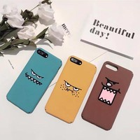 Personality funny expression mobile phone case for iPhone X 7 7plus 8 8plus iPhone6 6s plus -171121