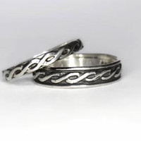 BLACK FRIDAY Wide Celtic Endless Knot Band in Sterling Silver - Stacking Ring, Promise Band, or Wedding Band
