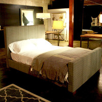 Modern Upholstered Bedframe COMFY Headboard by robrray on Etsy