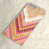 Wood Chevron Triangel Stripe iPhone 6 Plus Case