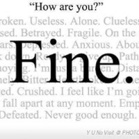"""THE CAREGIVERS' LIVING ROOM - A Blog by Donna Thomson: Saying """"I'm Fine"""" When I'm Not"""