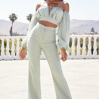 Light Aqua 2 Piece Jumpsuit