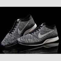 NIKE woven casual shoes light running shoes Black and gray
