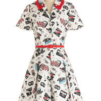 Bea & Dot Vintage Inspired Mid-length Short Sleeves Shirt Dress Daily Special Dress