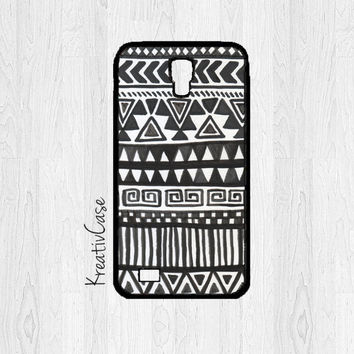 Aztec Samsung Galaxy S4 - S4 Phone Case - Samsung Galaxy SIII - Phone Covers - Black and White - G030