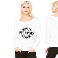 made in philippines m1 women's long sleeve tee