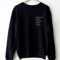 Cities Oversized Sweatshirt