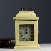 Home Decor Vintage Accessory Storage Wooden Clock [6282967366]