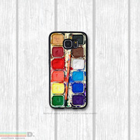 Watercolor Paint Set, Custom Phone Case for Galaxy S4, S5, S6