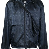 Navy Monogram Windbreaker by Alexander Wang