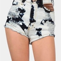Bleached Bum Shorts - Blue