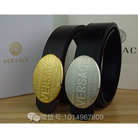 Versace Fashion Belt Leather Belt Contracted Smooth Buckle