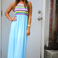 Summer Skies Maxi Dress: Multi | Hope's