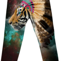 Fight For What You Love • Chief of Dreams: Tiger Unisex Cotton Pants created by soaringanchordesigns   Print All Over Me