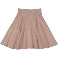 Teela Girls' Dusty Rose Knit Circle Skirt