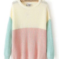 Multi-Color Knitted Sweater