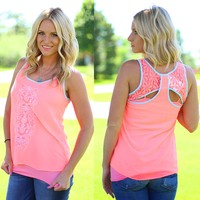 Exquisite Beauty Top in Coral