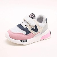 2018 high quality light breathable children sneakers Spring/Autumn sports running kids shoes Lovely girls boys footwear toddlers