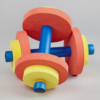 Red & Yellow Dumbbell - Set of Two