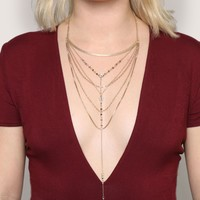 Gold Lining Necklace - Jewelry - Accessories at Gypsy Warrior