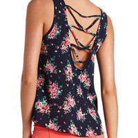 STRAPPY BACK FLORAL PRINT TANK TOP