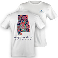 Simply Southern Alabama Chevron Preppy State Pattern Girlie Bright T Shirt