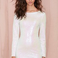 Glamorous Let It Snow Sequin Dress