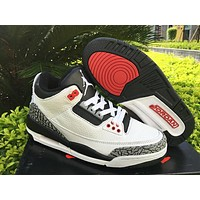 Nike Mens Air Jordan 3 Retro Leather Basketball Shoes | Best Deal Online