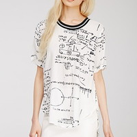 Basquiat Illustration Print Top