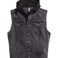 H&M - Hooded Denim Vest