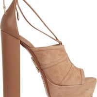 Aquazzura - Very Eugenie suede and leather sandals