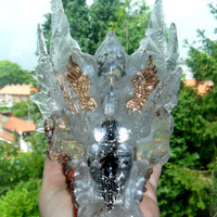 Ayahuasca Crystal Healing Dragon with Shamanic Plant
