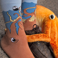 Socks by Sock Dreams » .Socks Special Collections » Larger Feet » Squid O Midcalf