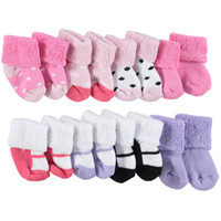 """Cookie's Kids > Luvable Friends Baby Girls' """"Her First Potpourri"""" 8-Pack Socks"""