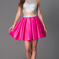 Two Piece Halter Dress by Dave and Johnny