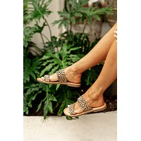 Soda Allie Slip On Sandals- Leopard