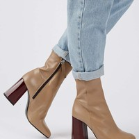 HARMONY Facet Heel Boots - Shoes